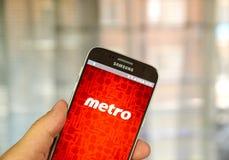Metro android app Royalty Free Stock Photo