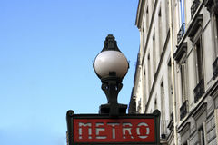 Metro On Avenue Jean Jaures In Paris Royalty Free Stock Photography