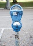 Metro azul gastado de la moneda Imagen de archivo