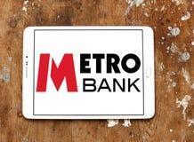Metro banka logo Fotografia Stock