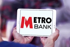 Metro banka logo Obrazy Stock