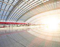 Metro in beijing T3 airport station Royalty Free Stock Images
