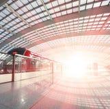 Metro in beijing T3 airport station Stock Photo