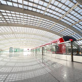 Metro in beijing T3 airport station Stock Photography