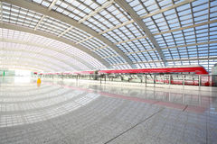 Metro in beijing T3 airport station Royalty Free Stock Photography