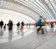 Metro in beijing T3 airport station at people Royalty Free Stock Photography