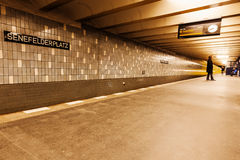 Metro in Berlin, Germany Stock Image