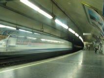 Metro in beweging Stock Afbeelding