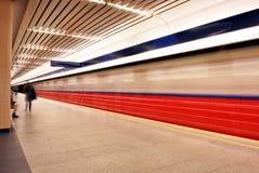 Metro borrado movimento Imagens de Stock