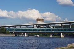 Metro bridge and academy of sciences Royalty Free Stock Image