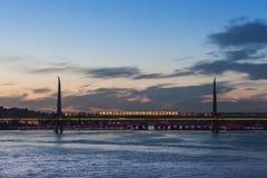 Metro bridge, Istanbul Royalty Free Stock Photography