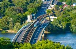 Metro bridge. Kiev, Ukraine Royalty Free Stock Images