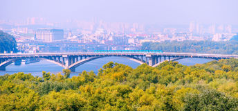 Metro bridge. Kiev, Ukraine Stock Photo