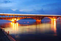 Metro bridge in Kyiv Stock Photo