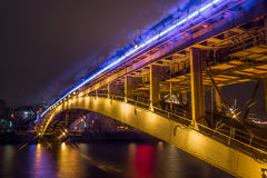 Metro bridge in Moscow Royalty Free Stock Images