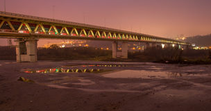 The metro bridge in Nizhny Novgorod Stock Photo