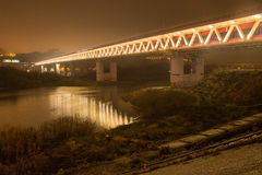 The metro bridge in Nizhny Novgorod Royalty Free Stock Image