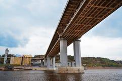 Metro bridge in Nizhny Novgorod Stock Photography