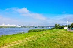 Metro Bridge in Omsk Stock Photos