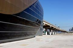 Metro bridge. Metro Station in Dubai, UAE royalty free stock image