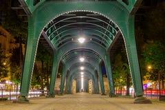Metro brug in Berlijn (Prenzlauer Berg) Stock Afbeelding