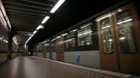 Metro in Brussel Royalty-vrije Stock Afbeeldingen