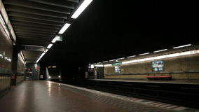 Metro in Brussels stock footage