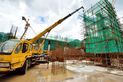 Metro budowy pracujący teren, Shenzhen, Chiny Obraz Royalty Free
