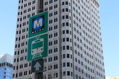 Metro and Bus Signage Stock Images