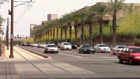 Metro céntrico Phoenix, tráfico de AZ almacen de video