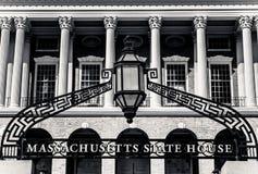 Entrance to Massachusetts State House, Boston Stock Photos