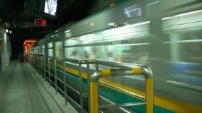 Metro car. Fast speed of metro car royalty free stock images