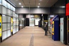 Metro. Car queue, subway station, subway passengers, public transport, platform , suburban train underground, a network of underground infrastructure royalty free stock photo