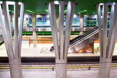 Metro. Car queue, subway station, subway passengers, public transport, platform , suburban train underground, a network of underground infrastructure royalty free stock image