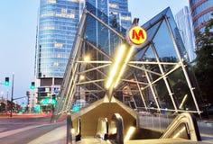 Metro. Car queue, subway station, subway passengers, public transport, platform , suburban train underground, a network of underground infrastructure stock photos