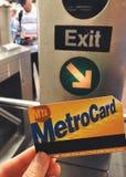 Metro Card New York City Subway Paying Fare Turnstile royalty free stock photography