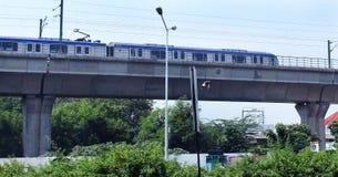 Metro carril-Chennai Fotografía de archivo libre de regalías