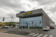 Metro Cash and Carry store in Porec, Croatia. stock photography