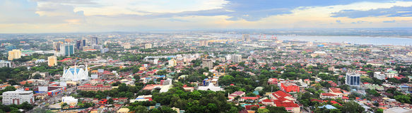 Metro Cebu at sunset Royalty Free Stock Images