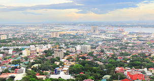 Metro Cebu at sunset Royalty Free Stock Image