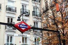 Metro Chueca Royalty Free Stock Photos