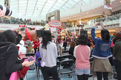 Metro City Plaza christmas dancing event in Hong Kong Stock Image