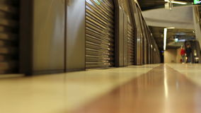 Metro Close Doors and Depart stock footage