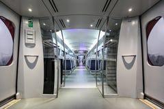 Metro coach interior Royalty Free Stock Images
