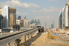 Metro Construction in Dubai Stock Images
