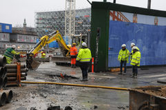 Metro construction site Stock Images
