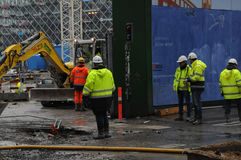 Metro construction site Stock Photography