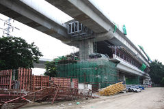 Metro construction site. In morning thailand Royalty Free Stock Photos