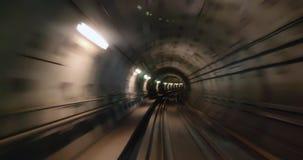 Metro in Copenhagen driving underground without driver