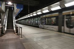 Metro de Bruxelas Imagem de Stock Royalty Free